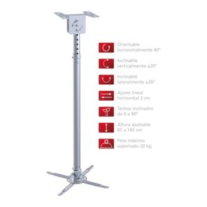 Soporte Proyector Techo Extensible 87-145cm
